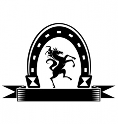 horseshoe lucky symbol vector image