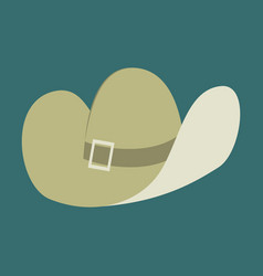 icon in flat design fashion clothes cowboy hat vector image
