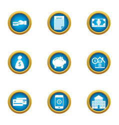 Introduce icons set flat style vector