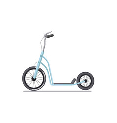 kick scooter or push bike vehicle isolated vector image vector image