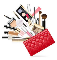 makeup bag vector image