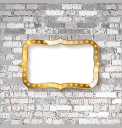 Marquee light board sign vector