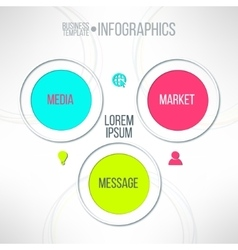 Media market message colorful infographic vector