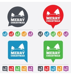 Merry christmas sign icon Trees symbol vector image