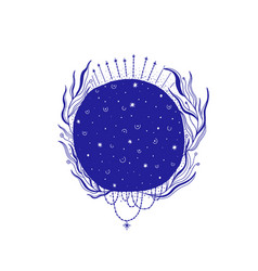 Mystic moon esoteric signmagic life vintage old vector