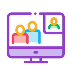 online connection icon outline vector image