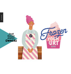Owners - small business graphics - frozen yoghurt vector