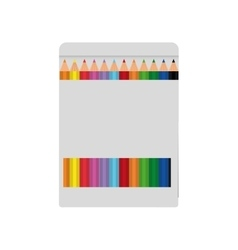 Pencil colors box instrument icon graphic vector