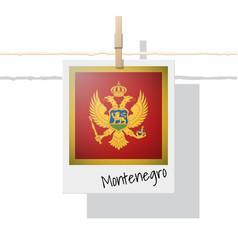 photo of montenegro flag vector image