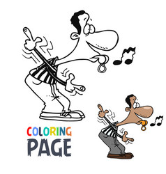 referee cartoon coloring page vector image