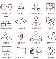 Set of icons related to business management - 1 vector image