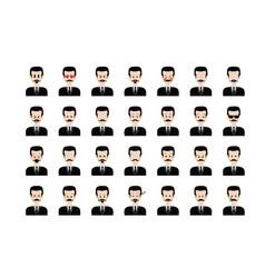 Set of people emoticon vector