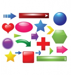 shapes and signs vector image