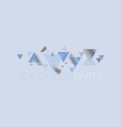 Simple blue geometric invitation vector