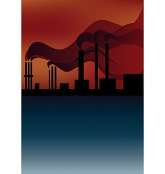 smoke pollution vector image
