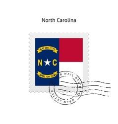 State of North Carolina flag postage stamp vector