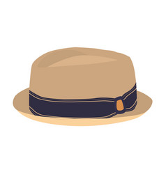 Summer hat icon on a white background vector