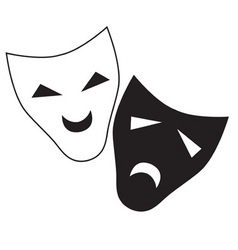 theater mask isolated character vector image