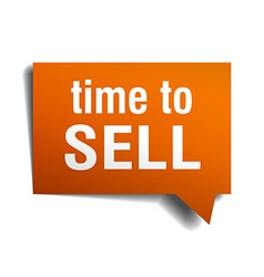 Time to sell orange speech bubble isolated on vector