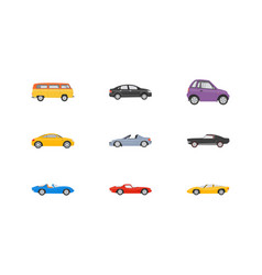 transport vehicles flat icons vector image