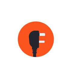 Uk electric plug icon in flat style vector
