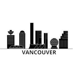 Vancouver architecture city skyline travel vector
