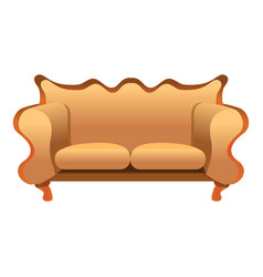 vintage sofa icon cartoon style vector image