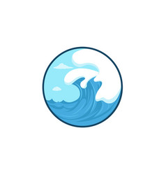 wave logo template on a white background sea vector image