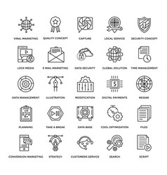 Web design icons 2 vector