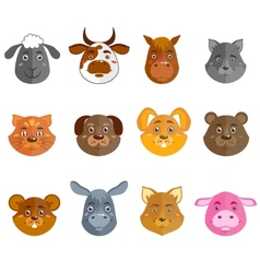 Wild and domestic animals collection vector
