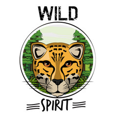Wild animal print for t shirt vector
