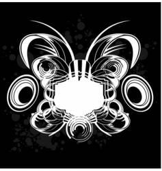 black and white sound graffiti vector image vector image