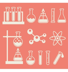 Chemical laboratory equipment - test tubes and vector image vector image