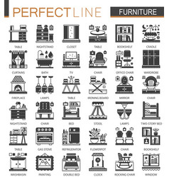 furniture interior classic black mini concept vector image