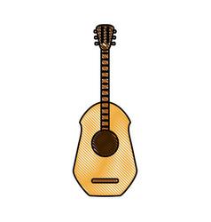 guitar acoustic instrument vector image