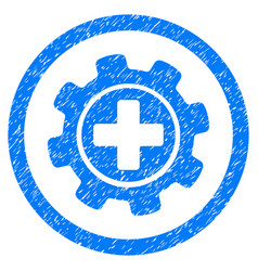 medical settings rounded grainy icon vector image vector image