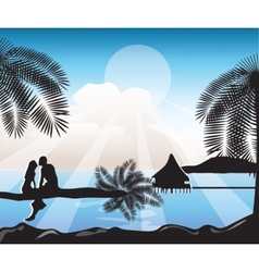 Summer Beach view Card vector image vector image