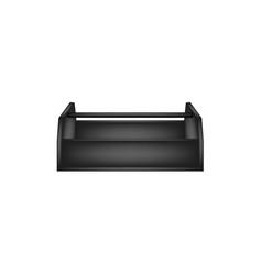 empty wooden toolbox in black design vector image vector image