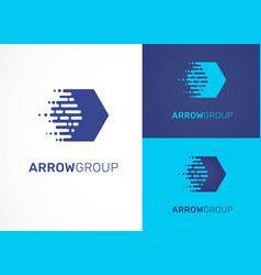 logo - technology tech arrow icon and symbol vector image vector image