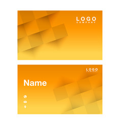 name card abstract square orange background vector image