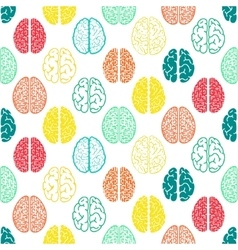 Colorful seamless brain pattern Scientific vector image