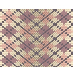 knitted pattern with rhombus vector image vector image