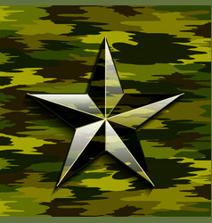 military camouflage star vector image