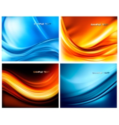 set of abstract elegant neon backgrounds vector image vector image