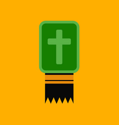 Flat icon stylish background bible book vector