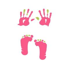 Footprint and handprint vector