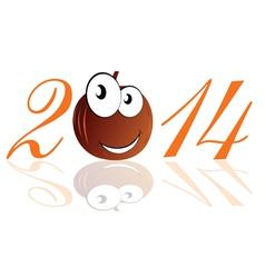 funny pumpkin 2014 vector image