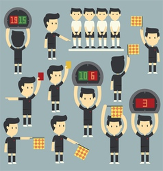 umpire football vector image vector image