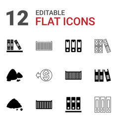 12 pile icons vector image