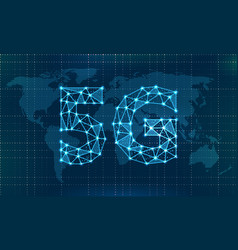 5g new wireless internet wi-fi connection global vector image
